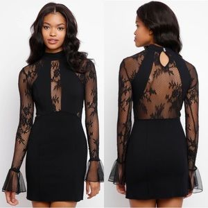 Free People Mesh Little Black Dress